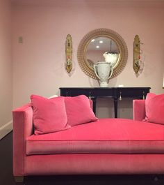 What's hot at High Point Fall Market 2015? Pink, pink everywhere. Cynthia Rowley for Hooker Furniture.