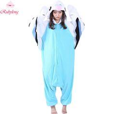 Rubylong 2017 Unisex Cute Budgie Animal Cartoon Sleepwear Homewear Women s  Winter Long Sleeve Hooded Fleece Pajama 80a9aa376