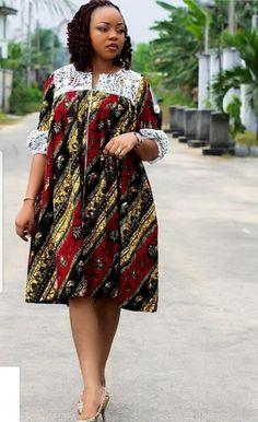ankara styles - - Unique and trendy Ankara styles for ladies 2019 - photo Ankara Dresses Short African Dresses, Latest African Fashion Dresses, African Print Dresses, African Print Fashion, Africa Fashion, Ankara Fashion, African Prints, African Fabric, Short Dresses