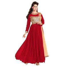 Party Wear Net Red Gown - EBSFSK317001D