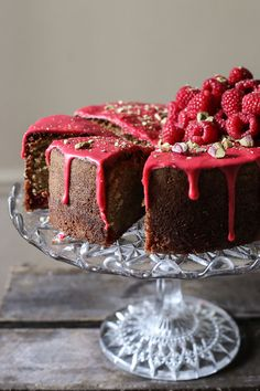 Raspberry Pistachio Cake {gluten-free}