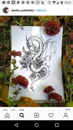 Red Ink Tattoos, Dainty Tattoos, Dope Tattoos, Leg Tattoos, Body Art Tattoos, Small Dragon Tattoos, Dragon Tattoo For Women, Back Tattoo Women, Dragon Tattoo Designs