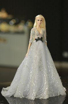 dress for fashion royalty Poppy Parker Silkstone by Rimdoll Barbie Wedding Dress, Wedding Doll, Barbie Gowns, Barbie Dress, Barbie Style, Barbie Model, Barbie Fashionista, Fashion Royalty Dolls, Fashion Dolls
