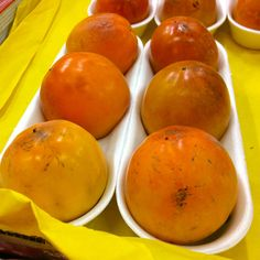 Persimmons starting to appear in the markets in Rome in October