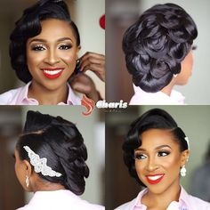 A 1950s Inspired Bride Webroughthervisiontolife Charishairinnigeria Mua Facesbylabisi Hairpiece Charishaircouture