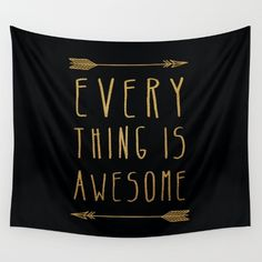 Items similar to wall tapestry- black and gold- modern quote wall art- wall decor- inspiring quote- home decor on Etsy Modern Quotes, Dorm Room Walls, Black And White Interior, Wall Art Quotes, Quote Wall, Home Quotes And Sayings, Everything Is Awesome, Pink Walls, Modern Materials