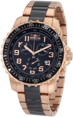 Just ordered it, i thin it looks great and the price is amazing.  Amazon.com: Invicta Men's 1327 Chronograph Black Dial Two-Tone Stainless-Steel Watch: Invicta: Watches