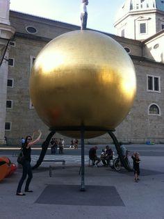 Mhmm yummy a huge Mozartkugel in Salzburg @ MC 2012