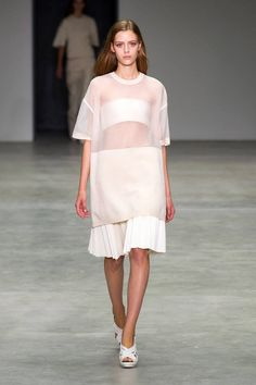 "Trend: Sheer   ""Peek-a-boo...sweet meets sporty"" Calvin Klein Spring 2014 Ready-to-Wear Collection"