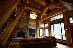 The owner personally determined the placement of everything from logs to light switches and, according to the Timber Kings, did an outstanding job.