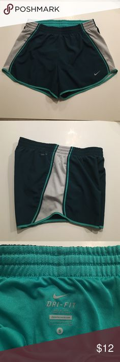 Nike Dri Fit Shorts Nike Dri Fit Shorts, size Small, good condition, like new, green, size small, has two hidden inside pockets Nike Shorts