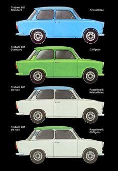 1978 - Trabant 601 - New Ideas East German Car, Balloon Cars, Europe Car, Microcar, East Germany, Buggy, Car Advertising, Car Decals, Sport Cars