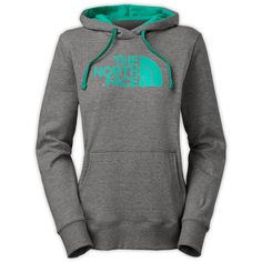 The North Face Women's Half Dome Hoodie Sweatshirt (155 BRL) ❤ liked on Polyvore featuring tops, hoodies, sweatshirts, jackets, shirts, the north face hoodies, hoodie pullover, pullover sweatshirt, ribbed shirt and the north face hoodie
