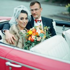 cool vancouver wedding The handsome couple during a mid-century/modern #wedding shoot in #Kits. #Photography by #Vancouver #photographer @kirillbordon. #bride #groom #justmarried #convertible #kitsilano #vintagecar #newlyweds #1960s #westcoast #604 #classiccar #vintagestyle #Vancity #buick #retro #pinkcar #weddingdress #vintagefashion by @pinkbetsy63  #vancouverwedding #vancouverweddingdress #vancouverwedding