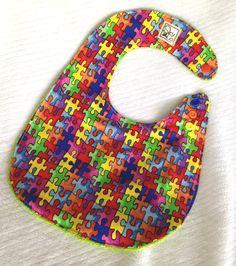 Baby Bib, Autism Awareness Inspired www.kamsnaps.com