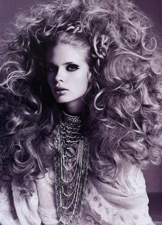 Big curls... (it is like MY OWN BIG HAIR I have finally come to love..) BellaDonna
