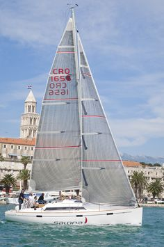 Salona 35 sailing in her hometown - Split, Croatia