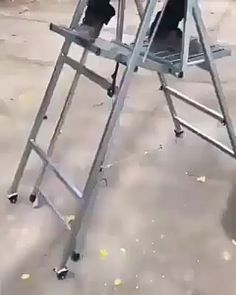 A new design ladder Homemade Tools, Diy Tools, Cool Inventions, Garage Workshop, Woodworking Tools, Custom Woodworking, Cool Things To Buy, Life Hacks, Walking