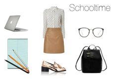 """School time"" by slounis on Polyvore featuring moda, RED Valentino, Lipsy, STELLA McCARTNEY, DKNY, Linda Farrow, Jac Zagoory Designs i Speck"