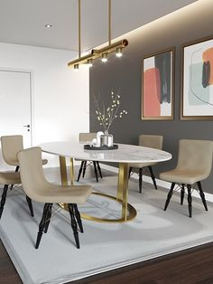Transform your dining area into a contemporary diner with this ensemble from Bent Basic Collection. Featuring an MS base and spherical white marble top, the 6 seater dining table offers a stylish and sturdy construction that's dripping in a contemporary style. Paired against Cullen Dining chairs, this ensemble makes for a perfect set up for your abode.  Note - This Set includes 1 Dining Table and 6 Chairs 6 Seater Dining Table, Marble Top Dining Table, Dining Area, Dining Chairs, Affordable Furniture, Luxury Furniture, Home Furniture, Furniture Design, Interior Styling
