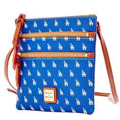 Los Angeles Dodgers Dooney & Bourke Women's Triple Zip Team Color Crossbody Purse