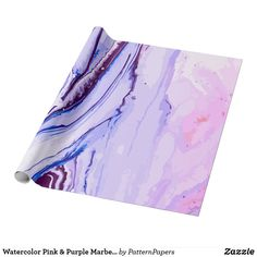 Shop Watercolor Pink & Purple Marbel Pattern Art Wrapping Paper created by PatternPapers. Pattern Art, Tie Dye Skirt, Pink Purple, Wrapping, Wraps, Watercolor, Paper, Pen And Wash, Watercolor Painting