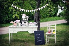 Rustic pink dessert table!