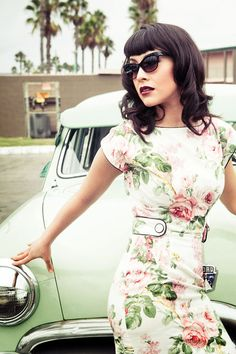 cabbage rose dress #dress #fashion
