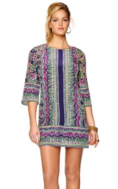 Lilly Pulitzer Rylee Silk Shift Dress Needs to be longer.