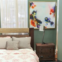 bedroom makeover: add new frames to your wall art