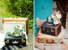 Vintage Luggage ✈ Destination Wedding Inspiration | Fly Away Bride