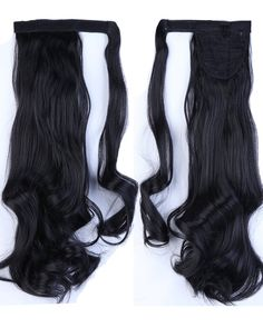Fashion Lady 17(43cm) Curly Dark Black Wrap Around Ponytail Clip in Hair Extensions Pony Tail Popular Cosplay Style ** This is an Amazon Affiliate link. Check out this great product.