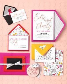 Wedding Stationery Inspired by Art Movements: Pop Art Punch