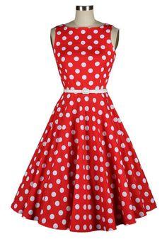 Polka dot dress,50s dress,vintage dress,Rockabilly dress,Housewife dress,50s day,cute dress