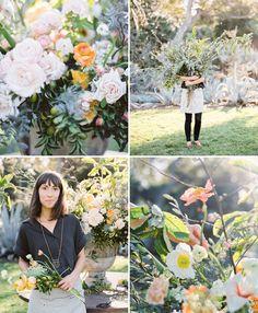 Flower Arrangements by @sarahwinward | Flowers by @florabundance | Styling by @kellyoshiro  | Photo by @braedonflynn