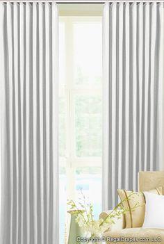 Custom Ripple Fold Drapes - Choose a Fabric Bedroom Drapes, Drapes Curtains, Drapery, Free Fabric Samples, Custom Drapes, House Windows, Window Treatments, Interior, Design
