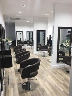 ZOE styling chairs bespoke styling units by AYALA salon furniture. Salon Inspirations. #Salonideas #Salonlook
