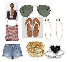 """""""#chill day"""" by hellokitty379921 on Polyvore featuring J Brand, Lipsy, American Eagle Outfitters, Ray-Ban, Bebe, ABS by Allen Schwartz and Kevin Jewelers"""
