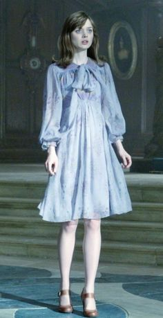 Bella in Dark Shadows movie Victoria Winters fashion. Blue Dress Outfits, Winter Dress Outfits, Blue Dresses, Outfit Winter, Cheap Dresses, Dark Shadows Movie, I Love Cinema, Steal Her Style, Estilo Tim Burton