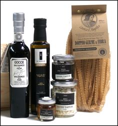 High End gifts. Truffle< aceto figs, Olive oil and double healthy pasta