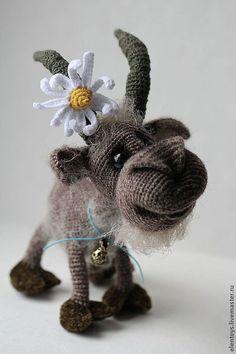 Билли - козёл - тёмно-серый,ручная авторская работа,подарок на любой случай