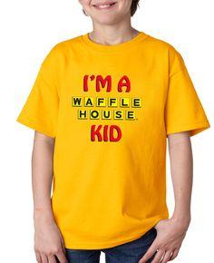 YOUTH WAFFLE HOUSE KID T-SHIRT Waffle House, Polo Shirt, T Shirt, Waffles, Polo Ralph Lauren, Youth, Mens Tops, Kids, Clothes