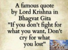 """krishna - Which verse of the Bhagavad Gita says """"If you don't…"""