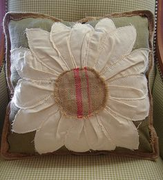 Reclaimed Feed Seed Coffee Sack Pillow Floral Sunflower 17 Inch...SALE: $39...MORE INFO? Call 828-414-9700. by CURIOSITY. For You. Home. Garden., via Flickr