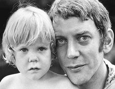 """life: """"Legendary actor Donald Sutherland was born 82 years ago today on July 1935 in Saint John, Canada. He is pictured here with his son Kiefer Sutherland in Happy Birthday, Donald! (Co Rentmeester—The LIFE Picture Collection/Getty Images). Donald Sutherland, Kiefer Sutherland, Young Celebrities, Celebs, Classic Hollywood, Old Hollywood, Photo Vintage, All In The Family, Gena Rowlands"""