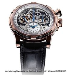 """Proud to be presenting live for the first time at SIAR 2015 Mexico City Louis Moinet MEMORIS. A new """"mono-pusher"""" chronograph recently nominated for the Grand Prix d'Horlogerie de Gèneve. This piece will take center stage amongst other @louismoinet tiemepieces presented for the first time; Tempograph 20-Second and Sapphire Tourbillon. @tiempoderelojes #louismoinet #memoris #tempograph #mecanograph #tourbillon #siar #siar2015 #watchporn #watchcollector #limitededition #novelty #horology by…"""