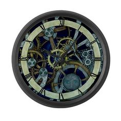 Image Detail for - CafePress > Art Clocks > Cogs and Gears Large Wall Clock