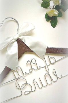 This personalized bridal wedding hanger includes your wedding date,and the word bride. *ALL orders now ship for free until January! *If you have ANY questions at all, be sure to check out our FAQs pag