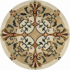 Waterjet medallion & stone pattern & rug, Waterjet medallion & stone pattern & rug direct from PFM Imp. in China (Mainland) Stone Tile Flooring, Foyer Flooring, Marble Pattern, Pattern Art, Floor Design, Tile Design, Wall Decor Design, Wood Mosaic, Floor Patterns