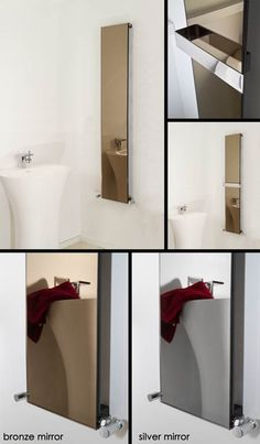 Luca Mirror Glass Heating Radiator For entrance hall Radiators Uk, Bathroom Radiators, Mirror Radiator, Towel Radiator, Bronze Mirror, Mirror Glass, Minimalist Mirrors, Steam Free, Central Heating Radiators